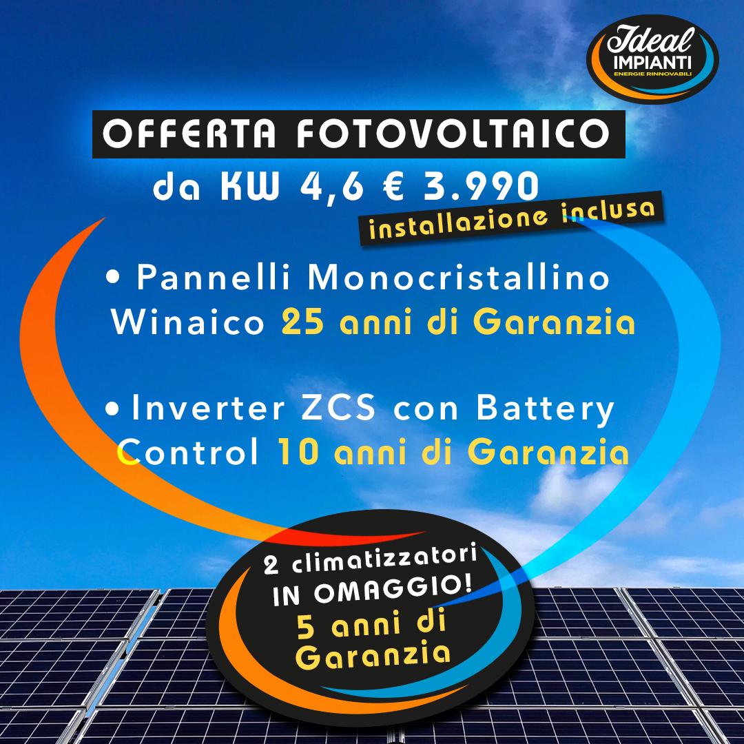 Offerta Fotovoltaico da kW 4,6: tutto incluso!
