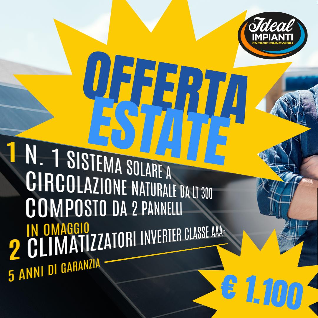"""""""Offerta Estate"""" per il tuo Solare Termico!"""